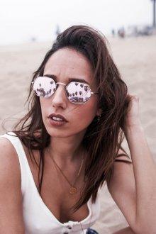 Зеркальные очки женские