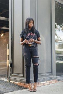 Черная футболка дизайн