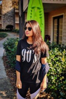 Черная футболка уличная