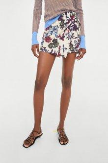 Юбка шорты с цветами