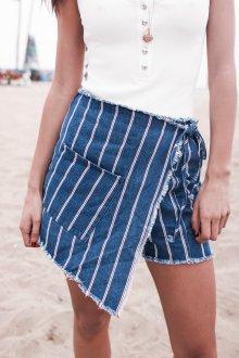 Юбка шорты джинсовая