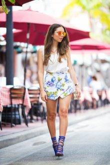 Юбка шорты с розами