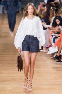 Шорты с высокой талией джинсовые