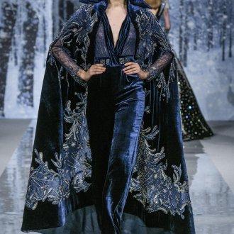 Платье халат бархатное