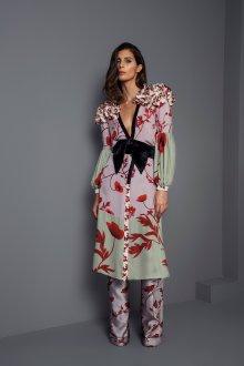 Платье халат цветочное