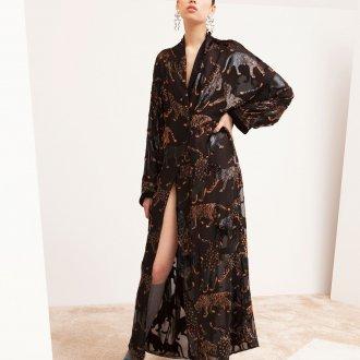 Платье халат длинное