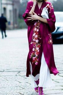 Платье халат фиолетовое
