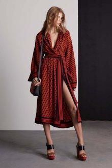Платье халат геометричное
