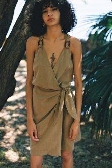 Платье халат хаки