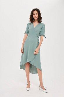 Платье халат с коротким рукавом