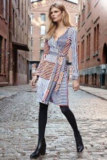 Платье халат полосатое
