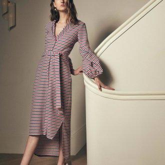 Платье халат с рукавом фонариком