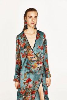 Платье халат шелковое