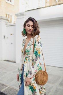 Платье халат светлое