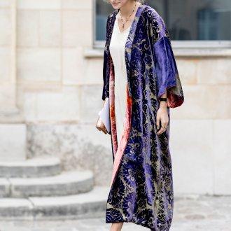 Платье халат велюровое