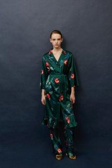 Платье халат зеленое