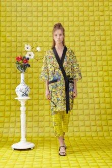 Платье халат желтое