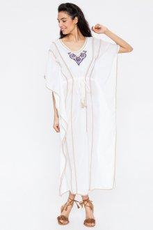 Платье из штапеля белое