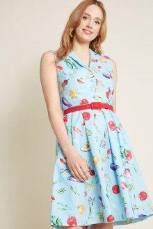 Платье из штапеля без рукавов