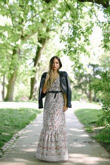Платье из штапеля бохо