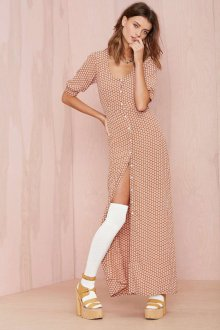 Платье из штапеля длинное