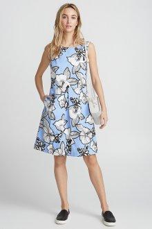 Платье из штапеля с крупным принтом