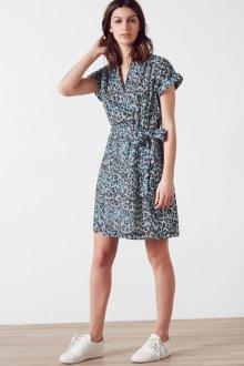 Платье из штапеля леопардовое