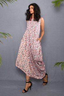 Платье из штапеля в мелкий цветок
