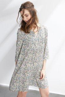 Платье из штапеля в мелкий принт