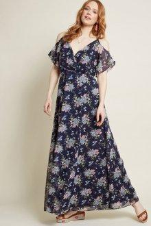Платье из штапеля с открытыми плечами