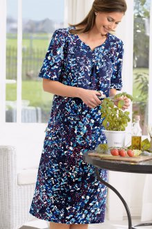 Платье из штапеля с принтом