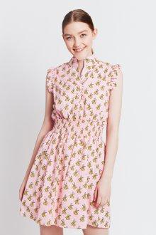 Платье из штапеля розовое