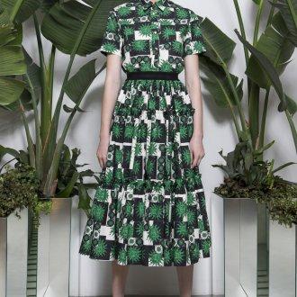 Платье рубашка из штапеля
