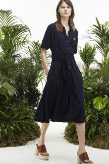 Платье из штапеля синее