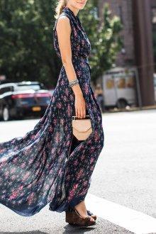 Платье из штапеля стильное