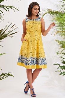 Платье из штапеля желтое