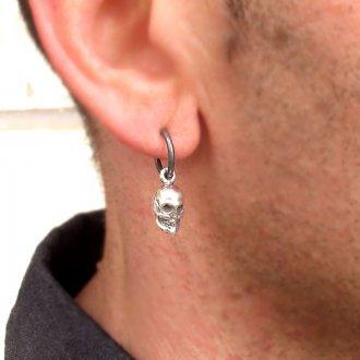 Мужские серьги в виде черепа