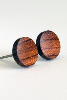 Мужские серьги деревянные