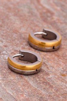 Мужские серьги кольца