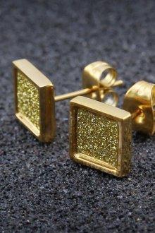 Мужские серьги золотые квадратные