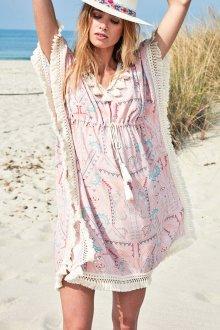 Пляжная туника с бахромой