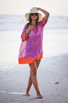 Пляжная туника фиолетовая
