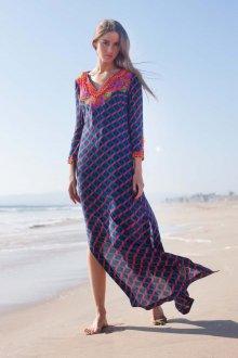 Пляжная туника с геометрическим принтом