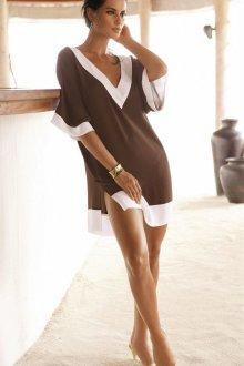Пляжная туника коричневая