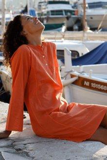Пляжная туника оранжевая