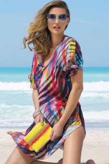Пляжная туника разноцветная