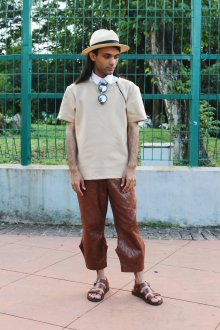 Сандалии мужские из коричневой кожи