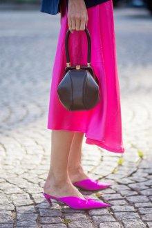 Сабо женские фиолетовые