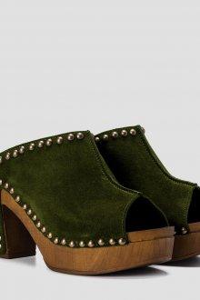 Сабо женские зеленые