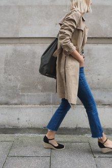 Эспадрильи женские с пальто
